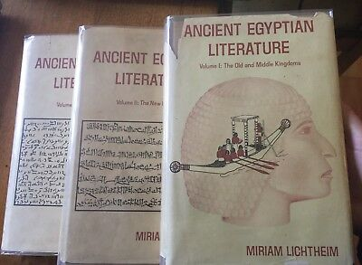 Ancient Egyptian Literature Lichtheim William Kelly Simpson copy signed 3 volume