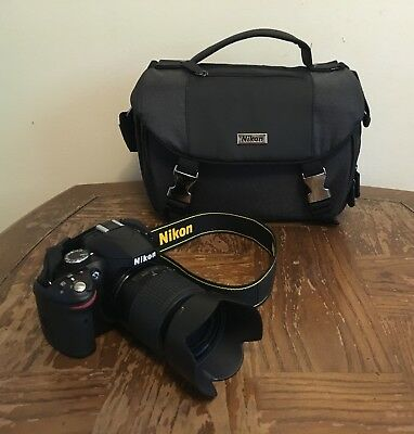 Nikon 3200 24.2MP DSLR w/ 2 Lenses + Camera Travel Bag - Great Condition!