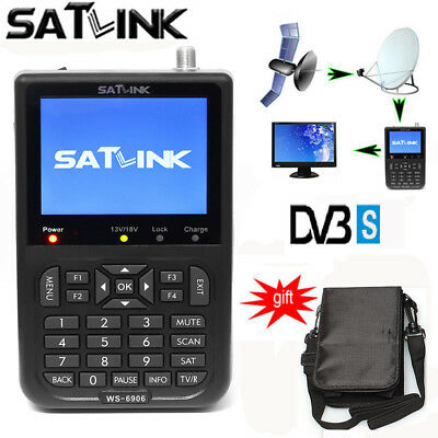 SATlink WS-6906 DVB-S FTA Data Digital Satellite Signal Finder Meter HD 3.5''LCD