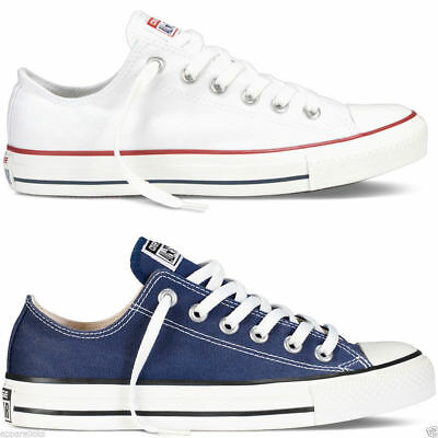 NewConverse Chuck Taylor All Star Lo Tops Unisex Canvas Trainers Navy White *