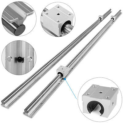 16-2000mm 2x Linear Guideway Rails 4 x Blocks 16mm Lathes Bearing STRONG PACKING