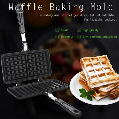 Household Gas Waffle Maker Non-Stick Heating Plate Pan Baker Machine Kitchenware