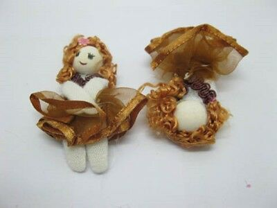 98 Coffee Hand Craft Gauze Lace Doll Embellishments