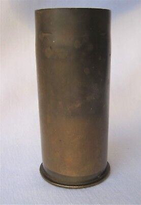 Vintage WWI 37mm 1916 Artillery TRENCH ART Shell Plain Sides US