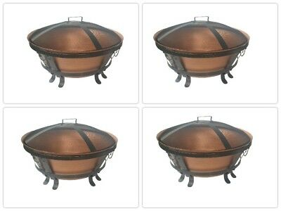 Fire Pit Bowl Fireplace Heating Wood Burning Heater Iron Steel Outdoor Garden