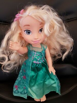 Disney Frozen 36 Cms Elsa Door In Green And Pink Dress  M53