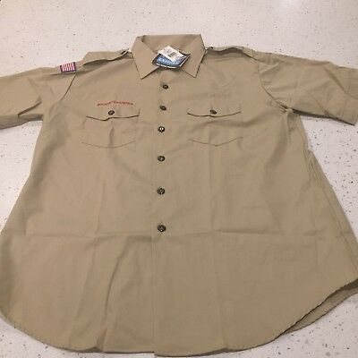 Men's Boy Scouts Of America Uniform Shirt Size XL New BSA Scouting