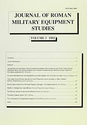 Journal of Roman Military Equipment Studies, Volume 3, 1992 (Vol 3), .. , , Very