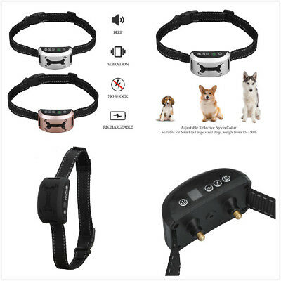 Waterproof Rechargeable Anti No Barking Collar Electric Shock Dog Bark CollarAFZ