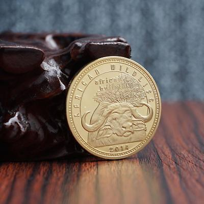 Gold coins Zambian African longhorn collection commemorative coins.DE