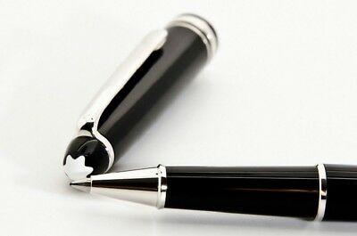 NEW MONTBLANC classique 163 Rollerball Pen black with platinum