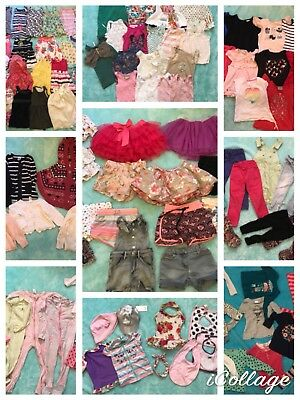Bulk Size 3 Girls Clothes inc Seed, Billabong, Bonds,Roxy, Pmkn patch Sz 7 shoes