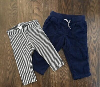 H & M lot of 2 pants size 4-6 months