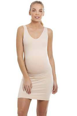 Camille Womens Ladies Beige Seamfree Maternity Full Slip