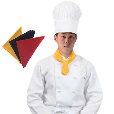 1pc New Chef Clothing Accessories Scarf Catering Neckerchief Neck Wears 3 Colors