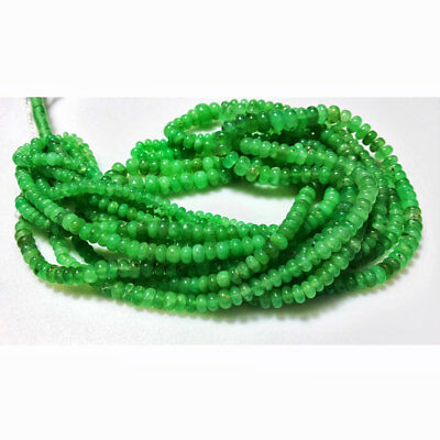 Chrysoprase Rondelle Beads 4mm To 8mm Beads 8 Inches Half Strand 60pcs Approx