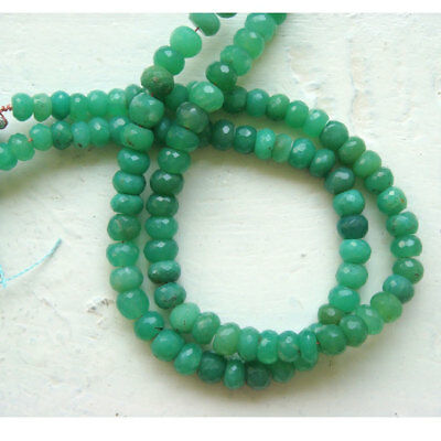 Chrysoprase Faceted Rondelle Beads 6mm Beads Half Strand 8 Inches