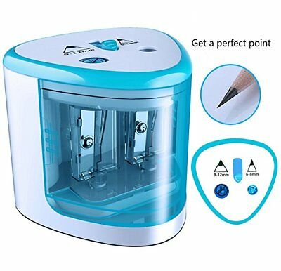 School Office Automatic Electric Dual Pencil Sharpener Battery Operated Kid Gift