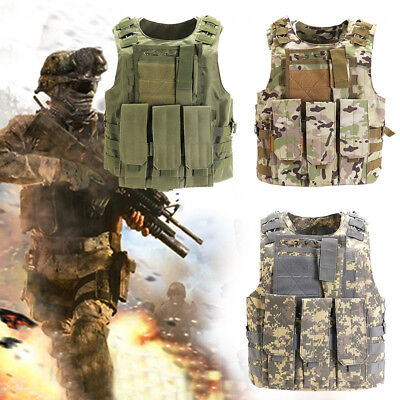 Airsoft Paintball Army Military Tactical Vest Hunting Waistcoat Combat Assault