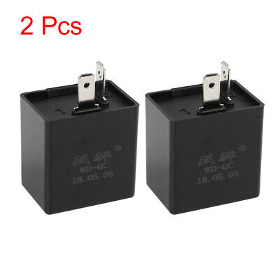 2pcs 12V 2 Terminals Turn Signal Light Electronic Flasher Relay for Motorcycle