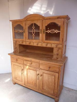 A Beautifully Waxed Antique/Old Pine 1950s Art Deco 12 Spice Drawer Dresser