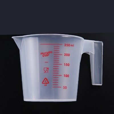 250ML Plastic Measuring Jug Cup Graduated Surface Cooking Bakery Kitchen Tool