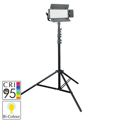 Bi-Colour LED Dimmable Portable Battery Powered Light Kit with Stand