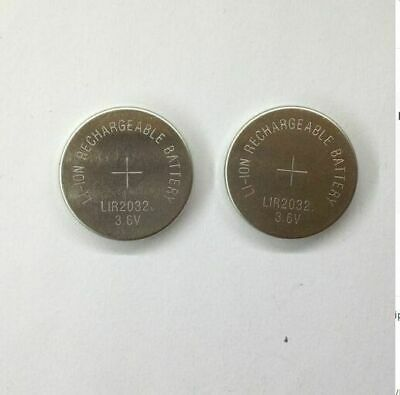 2 x 3.6V LiR2032 Rechargeable Cell Battery Coin Button Li-ion replace CR2032 UK