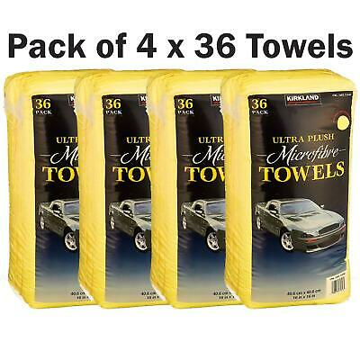 Kirkland Microfibre Ultra Plush Eurow Microfiber Car Cloth Pack of 4 x 36 Towels