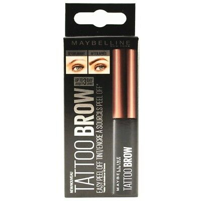 Maybelline Fashion Tattoo Peel Off Eye Brow Tint Dark Brown Boxed Authentic
