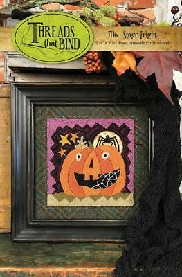 706 Stage Fright Halloween Punchneedle Punch Needle Threads That Bind Pattern