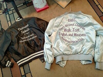Vintage Jackets - World Appaloosa Horse Club Champions-1985