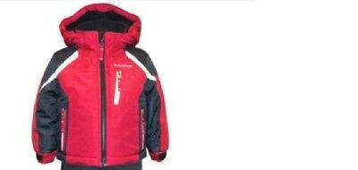 NEW Weatherproof Boys Snow Jacket (RED/BLACK, 4T)