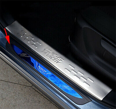 Fit For Mazda CX5 12-16 Door Sill Scuff Stainless Outside Plate Protector Outer