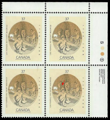 "1988 Canada SC#1216i ""Les forges du St Maurice"" 37¢ - Upper Right Corner - MNH"