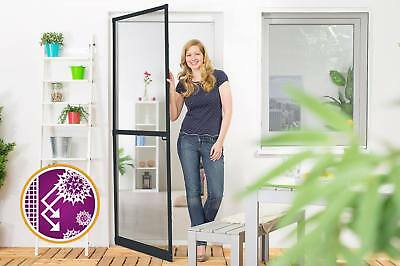 Moustiquaire Battante Porte SMART ANTI-POLLEN Assemblé Anthracite L120 x H240 cm