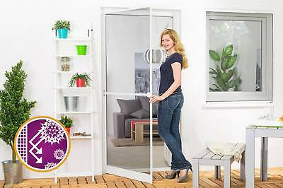Moustiquaire Battante Porte START ANTI-POLLEN Sur-mesure Alu Gris L100 x H210 cm