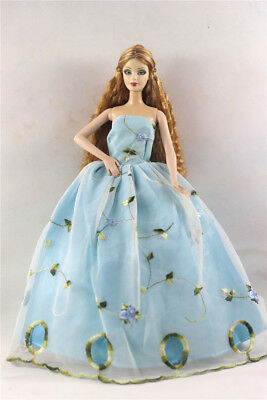 Fashion Princess Party Dress/Evening Clothes/Gown For Barbie Doll p19