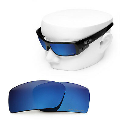 838f4931e6 OOWLIT Replacement Sunglass Lenses for-Oakley Gascan POLARIZED - Sapphire  Mirror