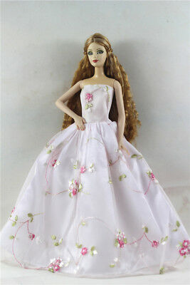 Fashion Princess Party Dress/Evening Clothes/Gown For Barbie Doll p25