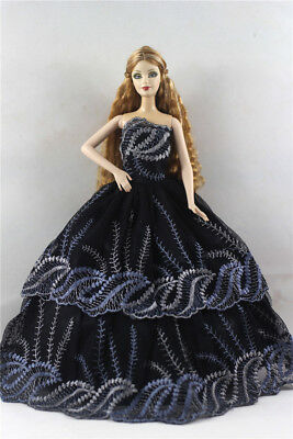 Fashion Princess Party Dress/Evening Clothes/Gown For Barbie Doll p28