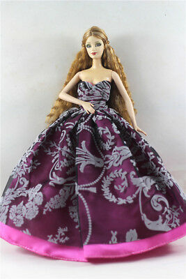 Fashion Princess Party Dress/Evening Clothes/Gown For Barbie Doll p35