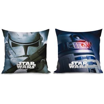 Star Wars Cushion Reversible Filled Kids Boys Stormtrooper R2D2