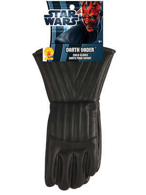 Boys Kids Child Darth Vader Gloves Star Wars Gauntlets Accessory Fancy Dress BN