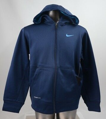 Nike Therma Fit Hooded Zip Navy Youth Size S-L New with Tags 655657 403