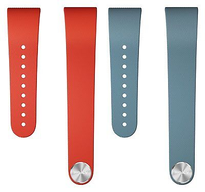 Genuine Offiziell Sony SWR310 SmartBand Wrist Strap Red+Blue M/L Medium/Large