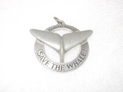 Vintage Pendant GENERAL WHALE - SAVE THE WHALE 1970s