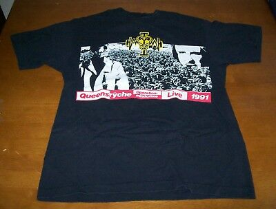 Queensryche Geoff Tate Operation Mindcrime Live 1991 Shirt-Large- USA Made Giant