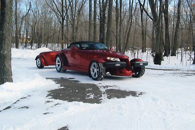 2001 Plymouth Prowler with Trailer 2001 Plymouth Prowler Convertible with Trailer in Orange Pearlcoat