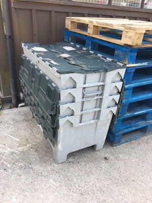 Storage or shipping boxes 1/2 Euro, stackable x 20